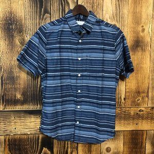 Aeropostale Striped Short Sleeve Button Down - XS